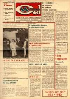 """Wspólny cel : gazeta załogi ZWCH """"Chemitex-Celwiskoza"""", 1983, nr 21 (886)"""
