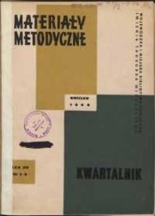 Materiały metodyczne : kwartalnik, R. XIV, 1969, nr 1-2