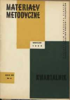 Materiały metodyczne : kwartalnik, R. XIV, 1969, nr 4