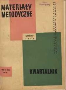 Materiały metodyczne : kwartalnik, R. XVI, 1971, nr 3