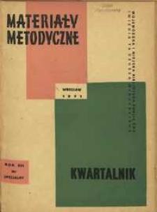 Materiały metodyczne : kwartalnik, R. XVI, 1971, nr specjalny