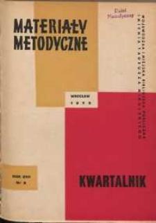Materiały metodyczne : kwartalnik, R. XVII, 1972, nr 2