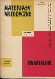 Materiały metodyczne : kwartalnik, R. XVII, 1972, nr 3-4