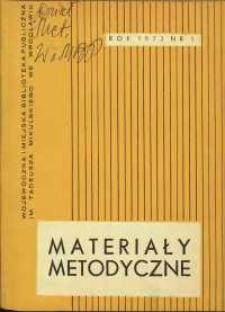 Materiały metodyczne : kwartalnik, R. XVIII, 1973, nr 1