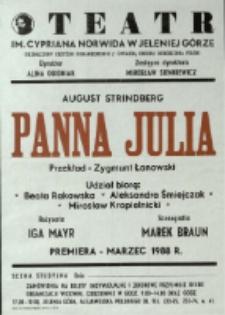 Panna Julia - afisz premierowy [Dokument życia społecznego]