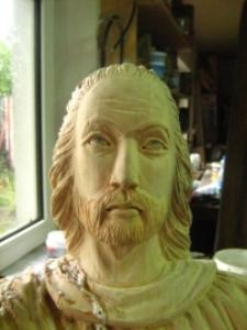 Św. Mateusz - rzeźba w realizacji [Dokument ikonograficzny]