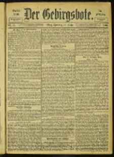 Der Gebirgsbote, 1901, nr 23