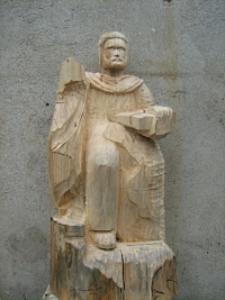 Św. Marek - rzeźba w realizacji [Dokument ikonograficzny]