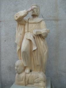 Św. Marek - rzeźba w realizacji 2 [Dokument ikonograficzny]