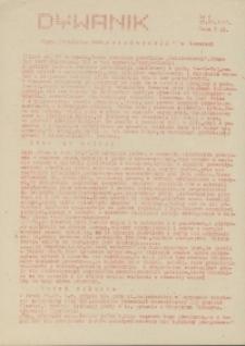 """Dywanik : pismo niezależne członków NSZZ """"Solidarność"""" w Kowarach, 1983, nr 6"""