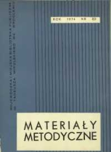 Materiały metodyczne, R. [19], 1974, nr 2/3