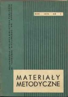 Materiały metodyczne, R. [20], 1975, nr 1