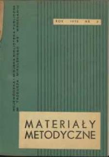 Materiały metodyczne, R. [20], 1975, nr 2