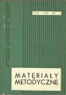 Materiały metodyczne, R. [20], 1975, nr 4