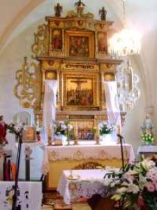 Ołtarz przed odsłonięciem rzeźb - Kościół p.w. św. Jana Chrzciciela w Mysłowie [Dokument ikonograficzny]