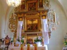 Ołtarz przed odsłonięciem rzeźb - Kościół p.w. św. Jana Chrzciciela w Mysłowie 2 [Dokument ikonograficzny]