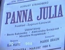 Panna Julia [zapis spektaklu] [Film]