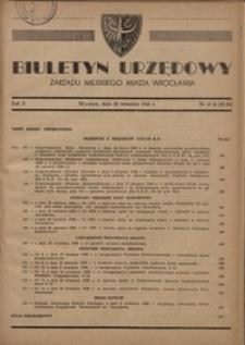 Biuletyn Urzędowy Zarządu Miejskiego Miasta Wrocławia, R. 2, 1948, nr 17/18 (25-26) [30 września]