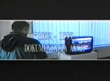 Wernisaż wystawy Tomasza Domańskiego. Dokumentacja akcji 1992-1999 [Film]