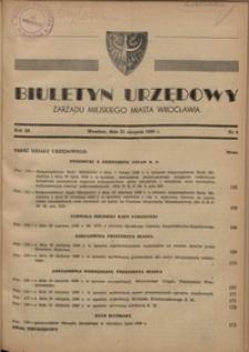 Biuletyn Urzędowy Zarządu Miejskiego Miasta Wrocławia, R. 3, 1949, nr 8 [31 sierpnia]