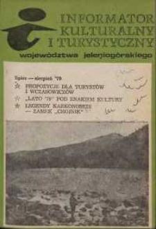 Informator Kulturalny i Turystyczny Województwa Jeleniogórskiego, 1979, nr 7/8