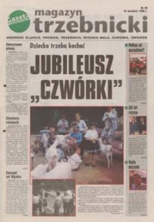 """Magazyn Trzebnicki : Oborniki Śląskie, Prusice, Trzebnica, Wisznia Mała, Zawonia, Żmigród : dodatek do """"Gazety Wrocławskiej"""", 1998, nr 48 [18.09]"""