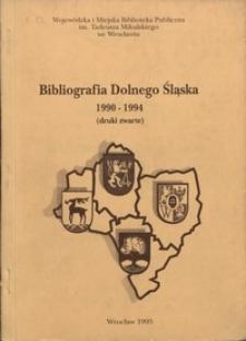 Bibliografia Dolnego Śląska 1990-1994 (druki zwarte)