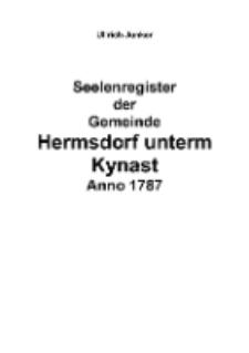 Seelenregister der Gemeinde Hermsdorf unterm Kynast Anno 1787 [Dokument elektroniczny]