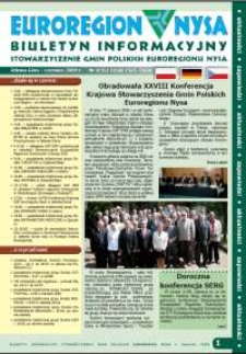 Euroregion Nysa : biuletyn informacyjny Stowarzyszenia Gmin Polskich Euroregionu Nysa, 2009, nr 4 (56)