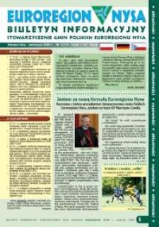 Euroregion Nysa : biuletyn informacyjny Stowarzyszenia Gmin Polskich Euroregionu Nysa, 2009, nr 7 (59)