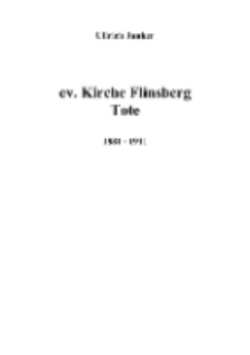 ev. Kirche Flinsberg Tote 1881 ‐ 1911 [Dokument elektroniczny]