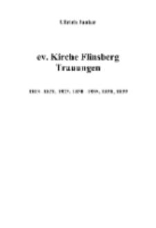 ev. Kirche Flinsberg Trauungen 1813-1821, 1823, 1830-1835, 1838, 1839 [Dokument elektroniczny]