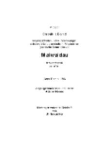 Maiwaldau. Chronik II. Band Angelegenheiten und Aufzeichnungen [Dokument elektroniczny]
