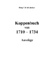 Koppenbuch von 1710-1734 Auszüge [Dokument elektroniczny]