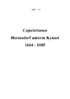 Copulationen Hermsdorf unterm Kynast 1664-1685 [Dokument elektroniczny]