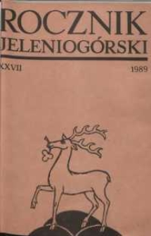 Rocznik Jeleniogórski, T. 27 (1989)