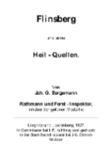 Flinsberg und seine Heil – Quellen 1827 [Dokument elektroniczny]