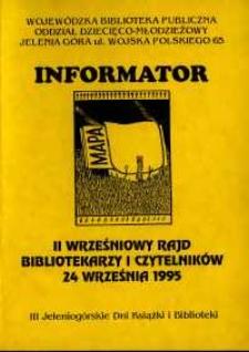 II Wrześniowy Rajd Czytelników i Bibliotekarzy : informator