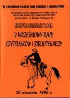 V Wrześniowy Rajd Czytelników i Bibliotekarzy - informator
