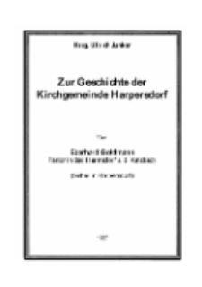 Zur Geschichte der Kirchgemeinde Harpersdorf [Dokument elektroniczny]