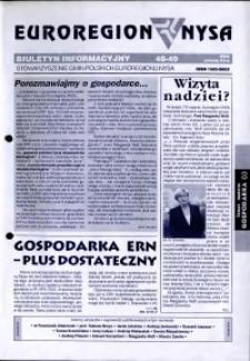Euroregion Nysa : biuletyn informacyjny Stowarzyszenia Gmin Polskich Euroregionu Nysa, 2002, nr 48-49