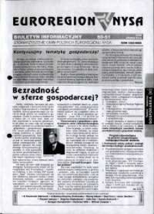Euroregion Nysa : biuletyn informacyjny Stowarzyszenia Gmin Polskich Euroregionu Nysa, 2002, nr 50-51