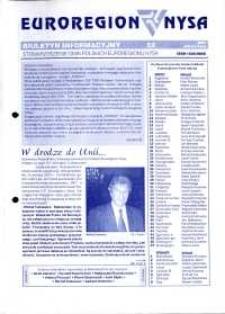 Euroregion Nysa : biuletyn informacyjny Stowarzyszenia Gmin Polskich Euroregionu Nysa, 2003, nr 52