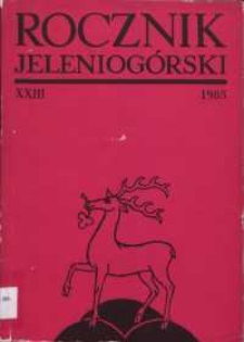 Rocznik Jeleniogórski, T. 23 (1985)