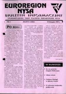 Euroregion Nysa : biuletyn informacyjny Stowarzyszenia Gmin Polskich Euroregionu Nysa, 1993, nr 3