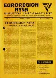 Euroregion Nysa : biuletyn informacyjny Stowarzyszenia Gmin Polskich Euroregionu Nysa, 1994, nr 6