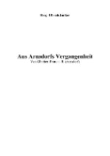 Aus Arnsdorfs Vergangenheit Von Günther, Pastor i. R. (Arnsdorf) [Dokument elektroniczny]