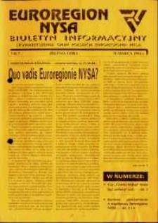 Euroregion Nysa : biuletyn informacyjny Stowarzyszenia Gmin Polskich Euroregionu Nysa, 1994, nr 7