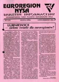 Euroregion Nysa : biuletyn informacyjny Stowarzyszenia Gmin Polskich Euroregionu Nysa, 1994, nr 11-12
