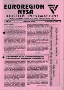 Euroregion Nysa : biuletyn informacyjny Stowarzyszenia Gmin Polskich Euroregionu Nysa, 1994, nr 16